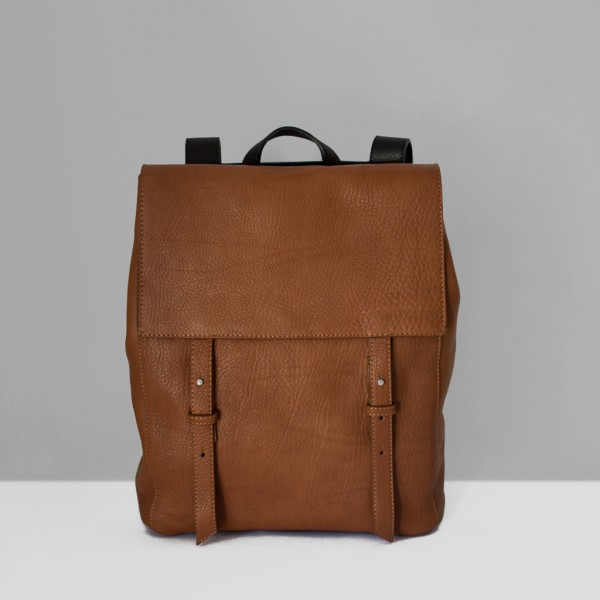 BACKPACK S / CHESTNUT & BLACK
