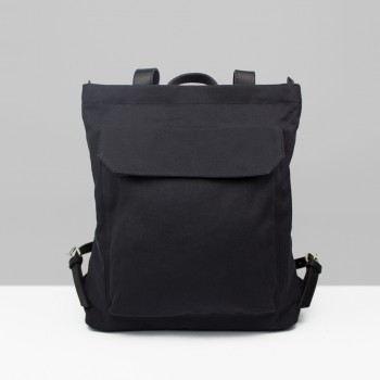 BACKPACK ZIP PACK  / BLACK & BLACK
