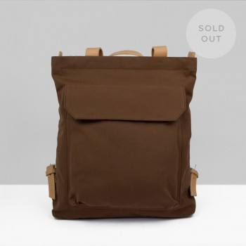 BACKPACK ZIP PACK  / BROWN & NATURAL
