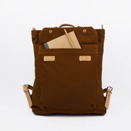 BACKPACK ZIP PACK  / BURNT ORANGE & NATURAL
