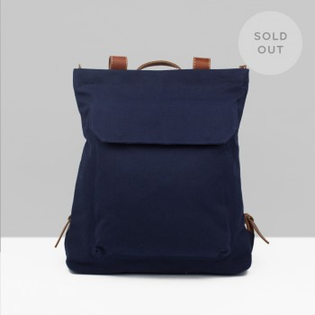 BACKPACK ZIP PACK  / NAVY & CHESTNUT