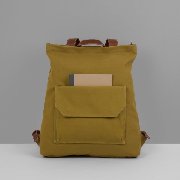 BACKPACK ZIP PACK  / MUSTARD & CHESTNUT