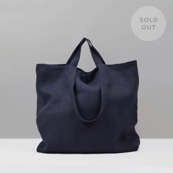 TOTE LINEN L / NAVY