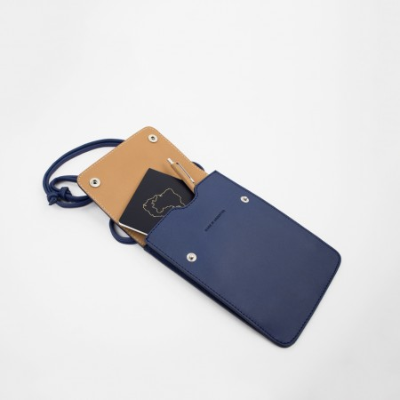 SHOULDER POUCH S3 / ROYAL BLUE & NATURAL