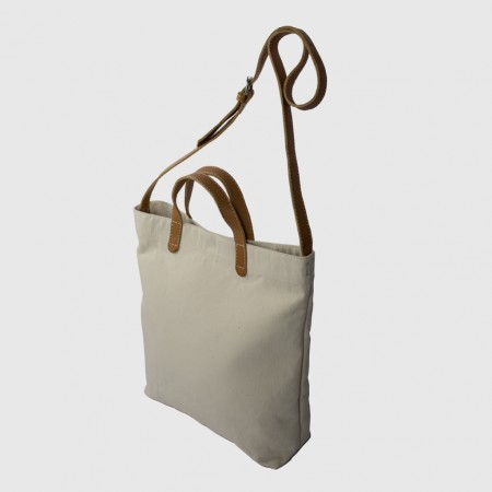 ALL DAY TOTE / ÉCRU & TAN