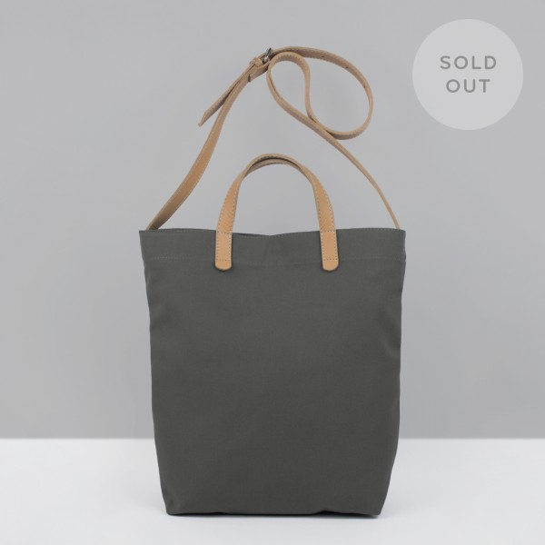 ALL DAY TOTE /  GREY & NATURAL