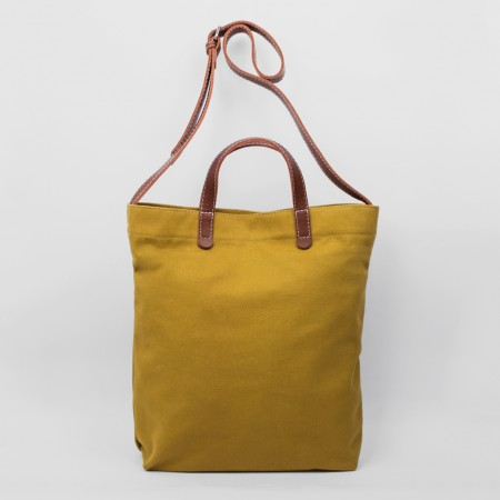 ALL DAY TOTE / MUSTARD & CHESTNUT