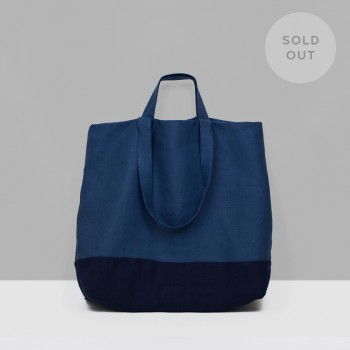 TOTE LINEN L / OFFICER NAVY & NAVY
