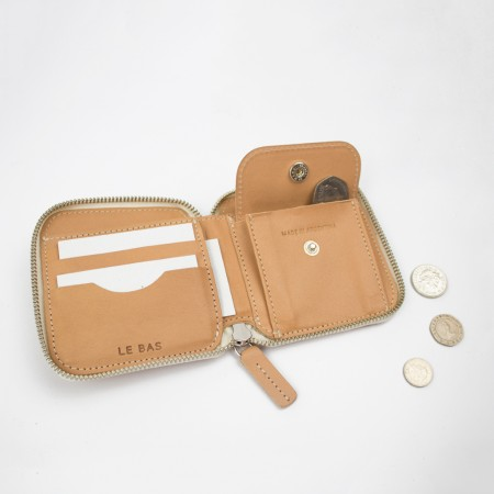 SQUARE ZIP WALLET / NATURAL