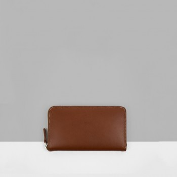 ZIP WALLET / CHESTNUT