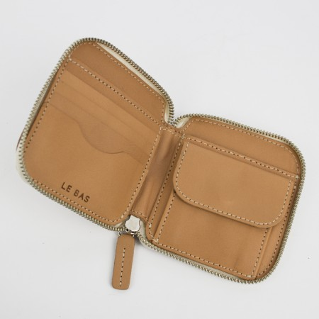 SQUARE ZIP WALLET / NATURAL / SAMPLE SALE
