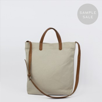 ALL DAY TOTE / ÉCRU & TAN / SAMPLE SALE