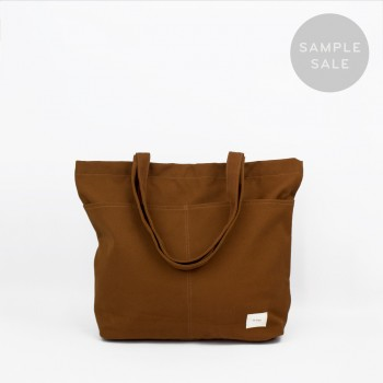 UTILITY TOTE / BURNT ORANGE / SAMPLE SALE