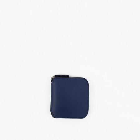 SQUARE ZIP WALLET / ROYAL BLUE & NATURAL / SAMPLE SALE